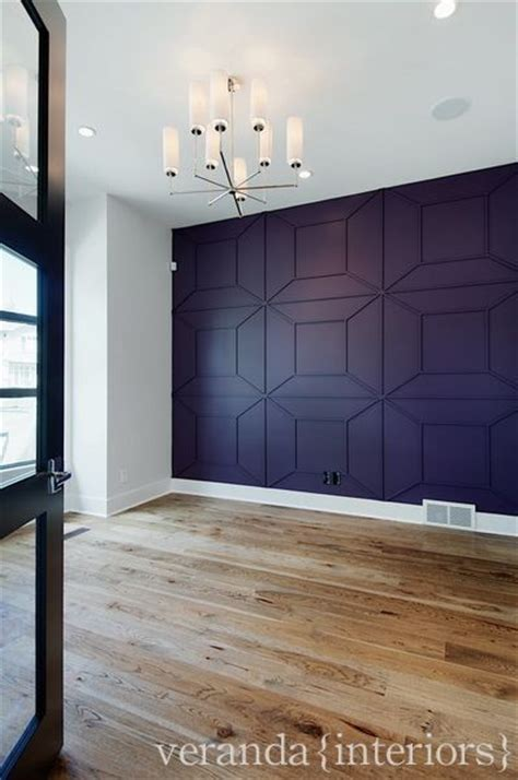 feature wall   study contemporary home office