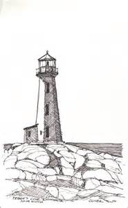 Lighthouse Drawing Cliparts Co Together With Pencil  sketch template