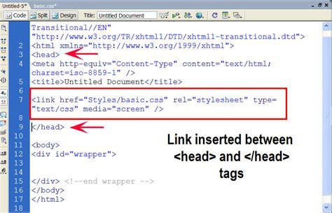css tutorial link stylesheet linking style sheets to html hostonnet com
