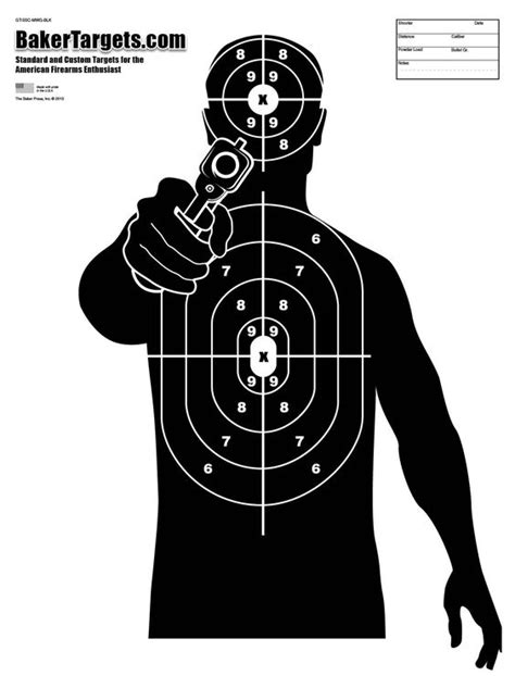 printable targets a3 shooting targets view all of baker targets shooting range