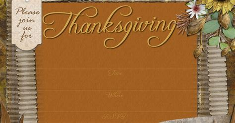 Free Thanksgiving Invitation Templates by Free Printable Invitations Thanksgiving Dinner