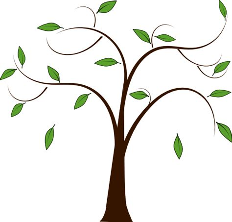 tree clipart tree leaves clip at clker vector clip