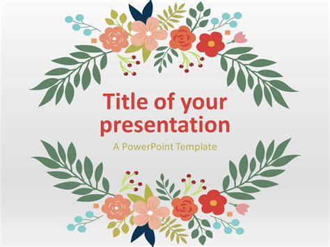 Flowers The Free Powerpoint Template Library Flower Template Powerpoint