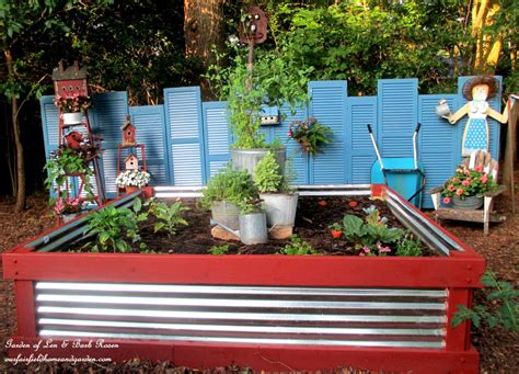 Corrugated Metal Raised Garden Beds - raised herb garden the whoot
