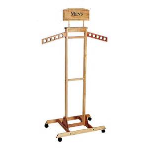 tower wooden clothing rack trio display
