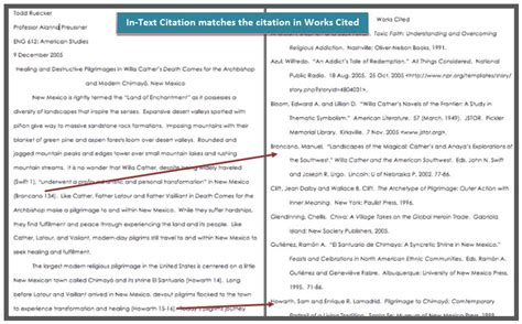 how do i use mla in text citations cwi