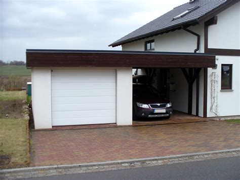 garage mit carport garage carport kombination carport scherzer
