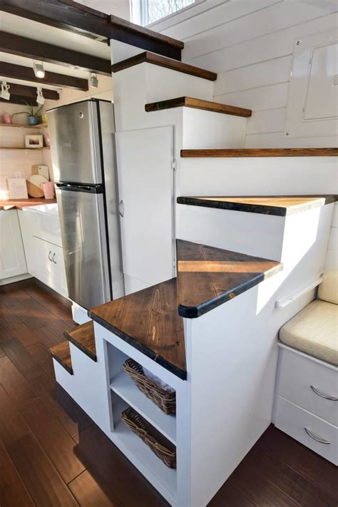 Tiny Living Homes by Tiny House On Wheels W Big Kitchen And Double Sink Vanity