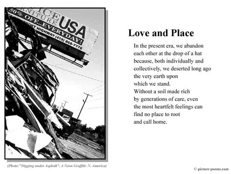 A Place About Picture Poem Poster And Place