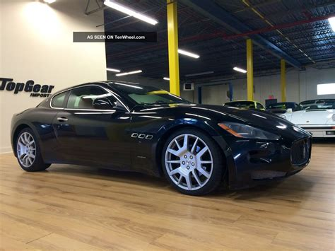 maserati coupe black 2008 maserati grand turismo coupe black with cuoiosella