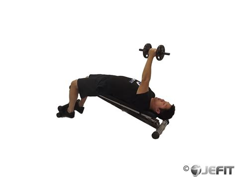 decline bench fly dumbbell decline one arm fly exercise database jefit