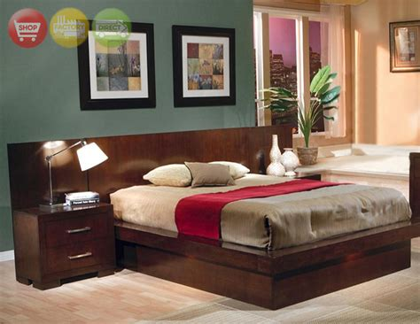 california king platform bed modern bedroom