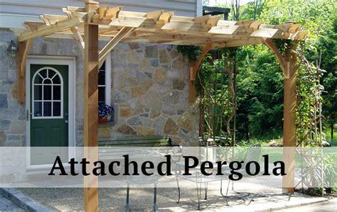 Attached Pergola Kit Outdoor Goods Attached Pergola Kit