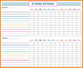 monthly bill organizer template free 6 free printable monthly bill organizer resumed