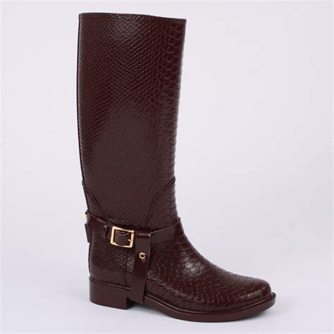 burgundy boots ted baker fesa womens slip on rubber wellington boots burgundy