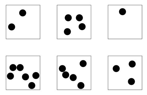 printable dice dot patterns subitising order rhythm and pattern