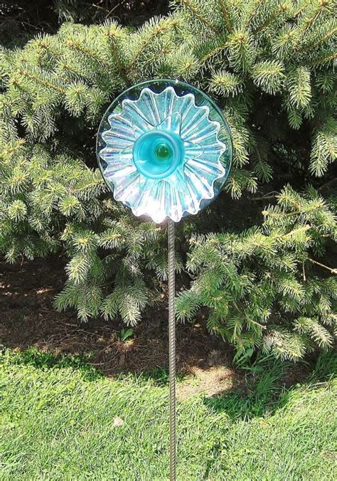 recycled glass garden yard art outdoor decor upcycled