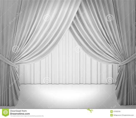 White Stage Curtain, Background Stock Illustration Illustration: 47002245