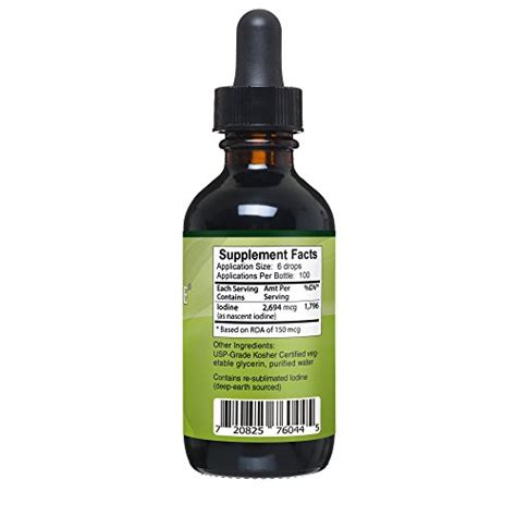 Nascent Iodine Detox Fluoride by Nascent Iodine Supplement High Potency Liquid Drops For