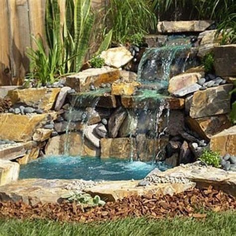 small waterfalls backyard beautiful house waterfalls design iroonie