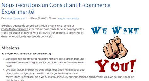 Cabinet De Conseil En Stratégie Digitale by Cdi Consultant E Commerce Senior Orient 233 Conversion
