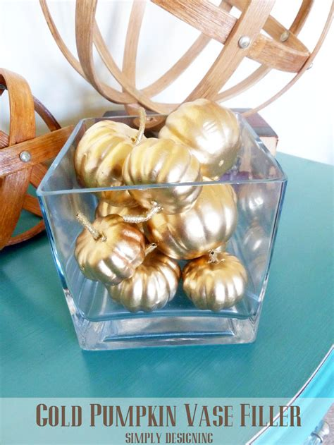 Pumpkin Vase Filler by Gold Pumpkin Vase Filler Pottery Barn Knock