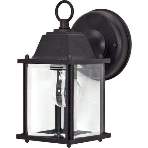 Light Fixture Screws Nuvo Lighting 60638 1 Light Medium Base 8 6 Quot Textured Black Finish With Clear Beveled