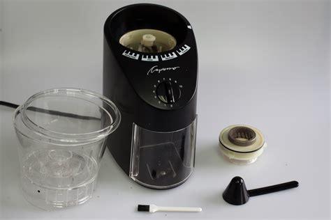 capresso 565 infinity conical burr grinder conical burr showdown baratza virtuoso v capresso