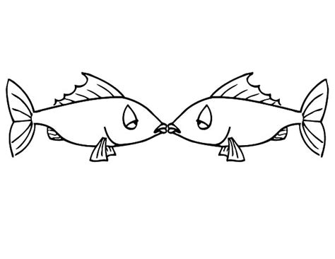 kissing fish coloring page free coloring pages of redneck christmas