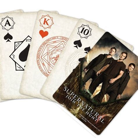 Supernatural Playing Cards Fandom Gifts