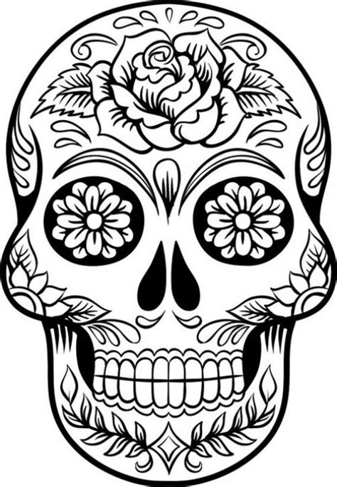 hard rose coloring pages hard coloring page of sugar skull to print for grown ups