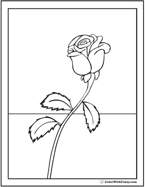 single rose coloring page 73 rose coloring pages customize pdf printables