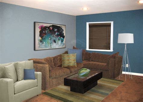 brown blue living room putting the quot great quot in a basic brown great room mochi
