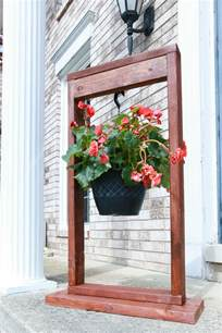 outdoor hanging decor diy hanging plant stand the weathered fox