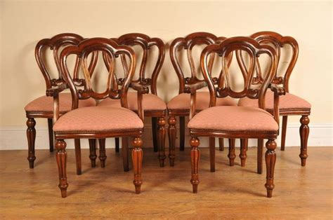 victorian dining room chairs 6 victorian dining chairs admiralty mahogany dining