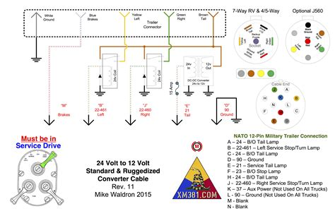 12 pin nato trailer wiring diagram 12 volt switch
