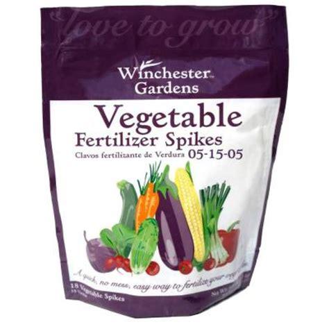 Fertilizer For Vegetable Gardens Winchester Gardens Vegetable Fertilizer Spikes 18 Count
