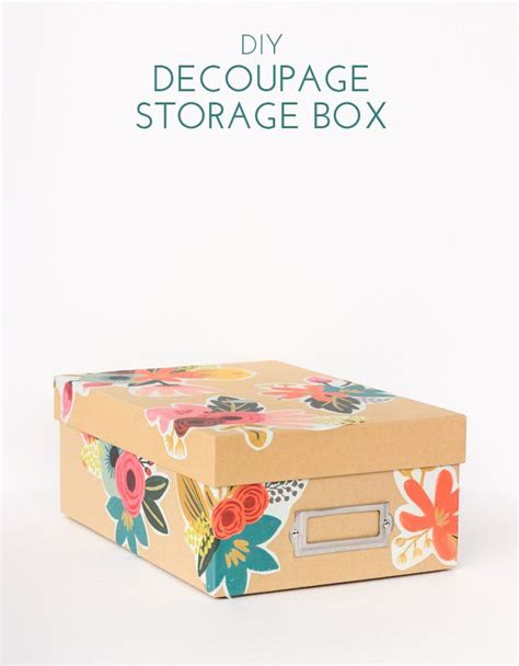 Decoupage Storage Boxes - diy floral decoupage storage box storage boxes rifle