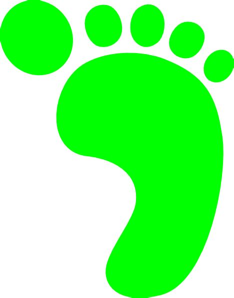 footprints clipart bright green footprint clip at clker vector clip