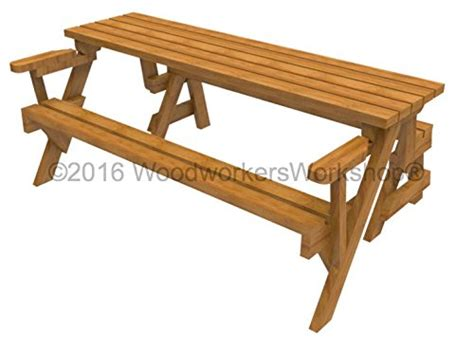 picnic table bench kit woodworkersworkshop woodworking plan to build a
