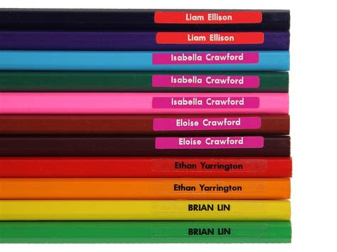 personalised pencil name labels stickers ebay 60 personalised tiny name labels pencil stickers for