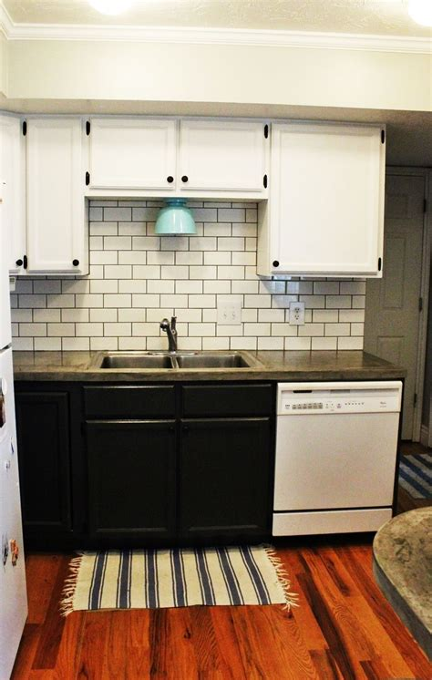 how to install a subway tile kitchen backsplash home