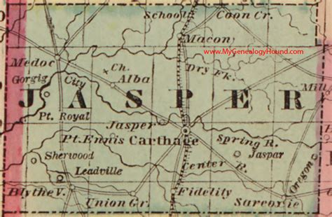 map of jasper oregon jasper county missouri 1861 map