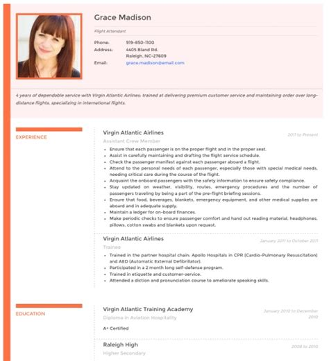 Resume With Photo Template by Cv Maker Resume Creator Resumonk