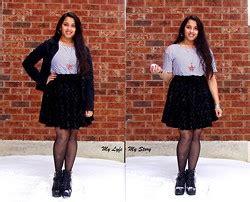polarlights valery in a short black lace skirt gallery harija ravi american dream orange tank dress h m blazer