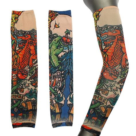 stocking tattoo style temporary sleeves