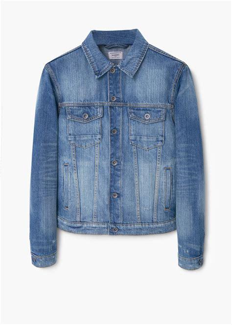 Jaket Vintage Wash mango vintage wash denim jacket in blue for lyst