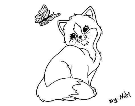 coloriage de chaton a imprimer az coloriage coloriage de chaton et papillon pour colorier coloritou com