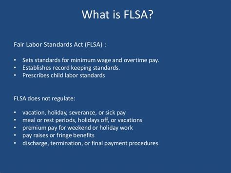 Fair Labor Standards Act Section 7 by Fair Labor Standards Act Understanding Its Requirements