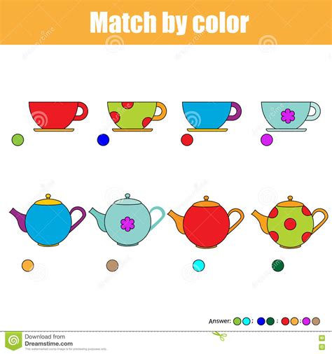 matching for and matching children educational activity sheet